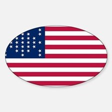 USA - 33 Stars - Ft Sumter Sticker (Oval)