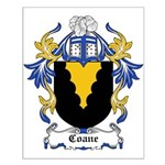 Coane Coat of Arms Small Poster