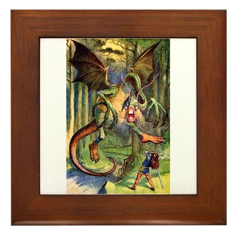 Beware the Jabberwock, My Son Framed Tile