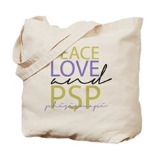 Peace, Love, and PSP Tote Bag