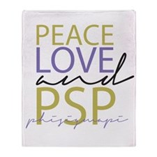 Peace, Love, and PSP Throw Blanket