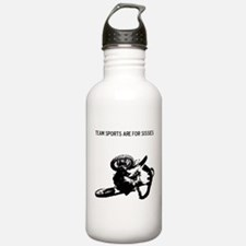 motocross team sports are for sissies Water Bottle