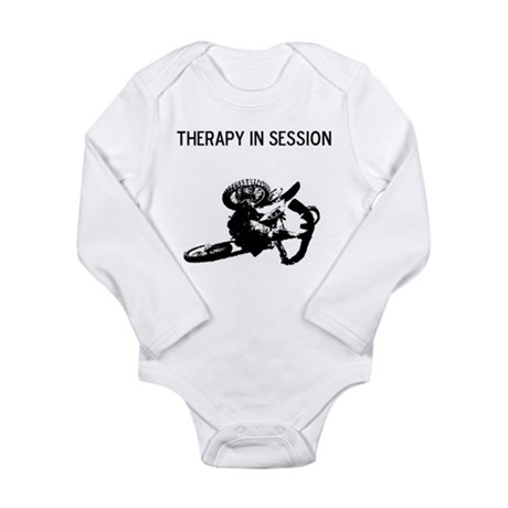 motocross therapy in session Long Sleeve Infant Bo