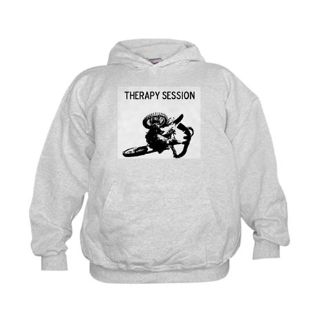 motocross therapy in session Kids Hoodie