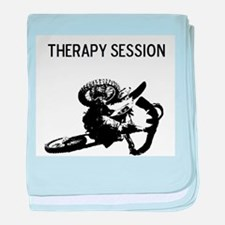 motocross therapy in session baby blanket