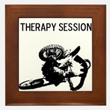 motocross therapy in session Framed Tile
