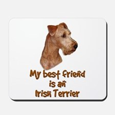 My best friend is an Irish Terrier Mousepad