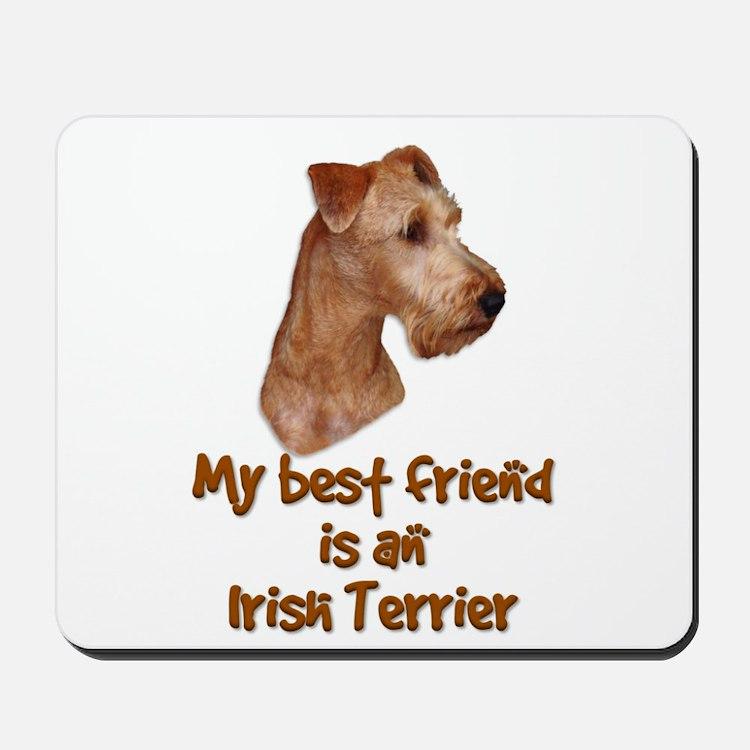 My best friend is an Irish Terrier Mousepad