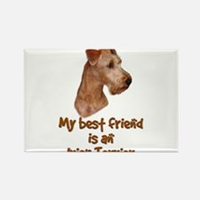 My best friend is an Irish Terrier Rectangle Magne