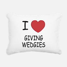 GIVING_WEDGIES.png Rectangular Canvas Pillow
