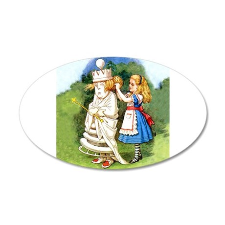 Alice and The White Queen 35x21 Oval Wall Decal