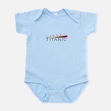 Sinking Titanic Infant Bodysuit