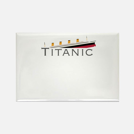 Sinking Titanic Rectangle Magnet