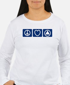 Peace Love Sobriety T-Shirt