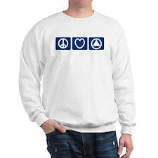Peace Love Sobriety Sweatshirt