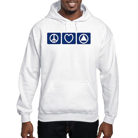 Peace Love Sobriety Hooded Sweatshirt