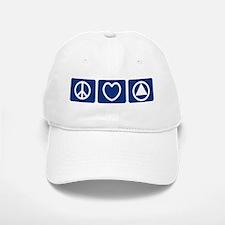 Peace Love Sobriety Baseball Baseball Cap