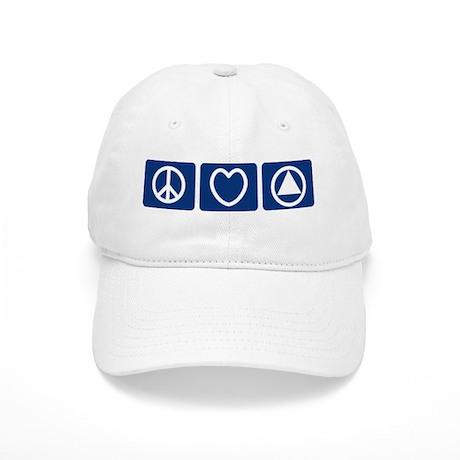 Peace Love Sobriety Cap