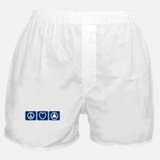 Peace Love Sobriety Boxer Shorts