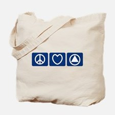 Peace Love Sobriety Tote Bag