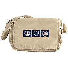 Peace Love Sobriety Messenger Bag