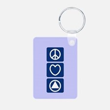 Peace Love Sobriety Keychains
