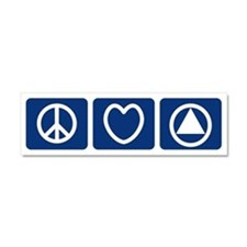 Peace Love Sobriety Car Magnet 10 x 3