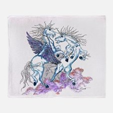 unicorn and pegasus Throw Blanket