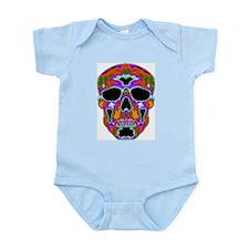 Psychedelic Skull Infant Creeper