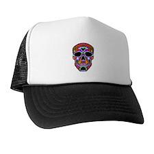Psychedelic Skull Trucker Hat
