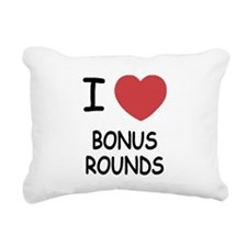 I heart Bonus Rounds Rectangular Canvas Pillow