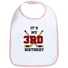 Hockey 3rd Birthday Bib