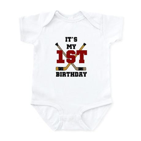 Hockey 1st Birthday Infant Creeper