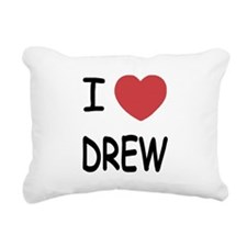 I heart Drew Rectangular Canvas Pillow