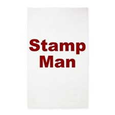 Stamp Man 3'x5' Area Rug