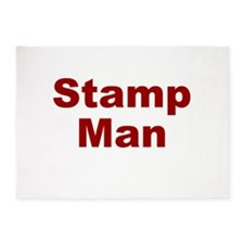 Stamp Man 5'x7'Area Rug