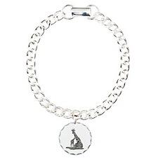 Giraffe Family Charm Bracelet, One Charm