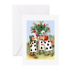 Painting the Queen's Roses Red Greeting Cards (Pk