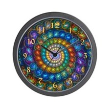 Fractal Spiral Shell Beads Custom Wall Clock