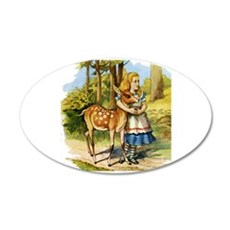 Alice and the Doe Wall Decal