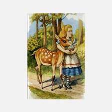 Alice and the Doe Rectangle Magnet
