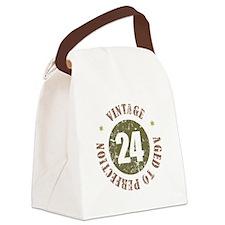 24th Vintage birthday Canvas Lunch Bag
