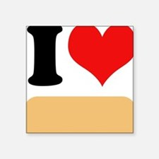 "I heart Twinkies Square Sticker 3"" x 3"""