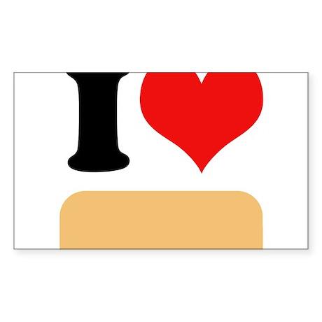 I heart Twinkies Sticker (Rectangle)