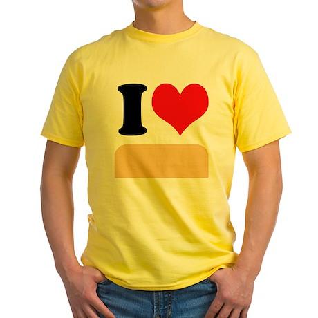 I heart Twinkies Yellow T-Shirt
