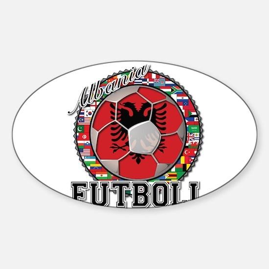 Albania Flag World Cup Futboll Ball Sticker (Oval)