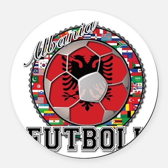 Albania Flag World Cup Futboll Ball Round Car Magn