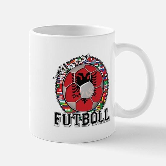 Albania Flag World Cup Futboll Ball Mug