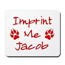 Imprint Me Jacob - Red Mousepad