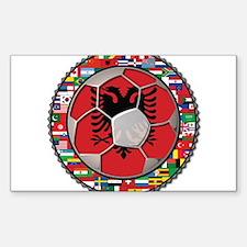Albania Flag World Cup Football Soccer Ball Sticke